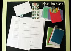 Create a letter-writing kit for kids. Great gift for friends moving away or new friends met over the summer or on vacation who live afar.  Writing letters is almost a lost art and children should be encouraged to write letters.
