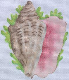 Conch Shellwith SeaweedOrnament