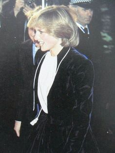 November 18, 1981-- Princess Diana switches on the Christmas lights at Austin Reeds in Regent Street