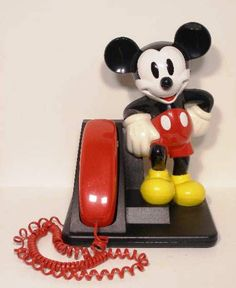 Vintage MICKEY MOUSE Telephone Touchtone Push Button Phone AT&T #WaltDisney http://stores.ebay.com/beachcats-bargains #MickeyMouse