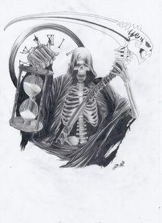 Grim Reaper Tattoo Design Semar