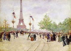 La Tour Eiffel par Jean Béraud (1849-1936)