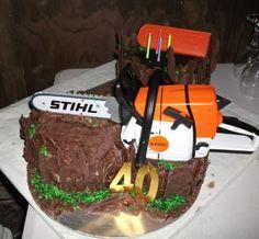 Chocolate overload 40th Birthday log cake