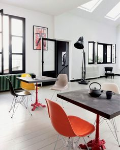 Le loft de Karine Simonot à Paris via boligliv.dk
