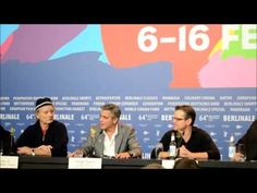 Berlinale 2014 George Clooney, Bill Murray, Matt Damon on the return of  of the Greek Marbles to Greece...whilst drinking #VivaconAgua