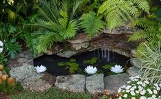 With holidays kind of out of the question right now, the next best thing could be creating your perfect own perfect hideaway in your backyard. Holiday at home with this DIY Balinese-inspired tropical oasis. Small Backyard Ponds, Backyard Water Feature, Large Backyard, Small Front Gardens, Small City Garden, Small Backyard Landscaping, Landscaping With Rocks, Diy Pond, Natural Pond