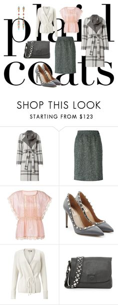 """""""coat"""" by sveta93 on Polyvore featuring moda, Exclusive for Intermix, Yves Saint Laurent, RED Valentino, Valentino, Elizabeth and James e Fernando Jorge"""