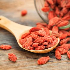 #Gojis are most commonly available in #dried form, and make a great snack eaten as is, added to #trailmix, muesli or oatmeal. They can also be soaked for a couple of hours in enough water to cover them.