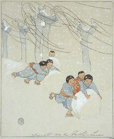 Snow Balls by Bertha Lum, 1912