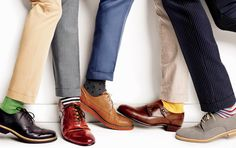 shoes, socks, trousers; colors!