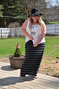 Full Figured & Fashionable: MAXI SKIRT Full Figured & Fashionable Full Figured & Fashionable Plus size fashion for women Plus Size Fashion Blogger Full Figured & Fashionable Plus Size OOTD Plus Size Fashion
