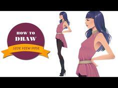 How to draw side view pose   I Draw Fashion