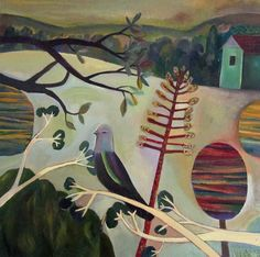 Timothy McConnachie: Pigeon Perch, Acrylic on canvas.