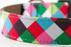 Colorful Cubes Dog Collar by SillyBuddy on Etsy https://www.etsy.com/listing/62084027/colorful-cubes-dog-collar