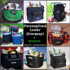 Win 1 of 3 Personalized Coolers in this giveaway- valued at up to $42. Giveaway open to those 18 or older within the continental US.
