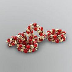 Sandra #bySandraLee Beaded Napkin Rings