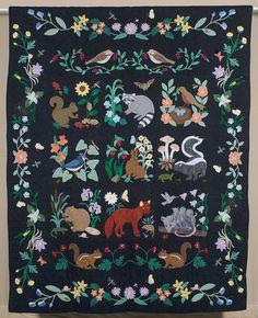 Marian Crowe, Woodland Creatures, 2006.  West Virginia exhibit.
