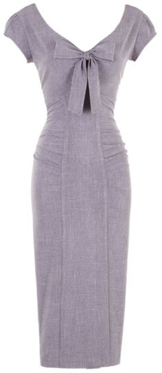 Grey Pippa Fitted Dress that is formal enough for work attire, and still looks gorgeous so you can show it off | Stop Staring!