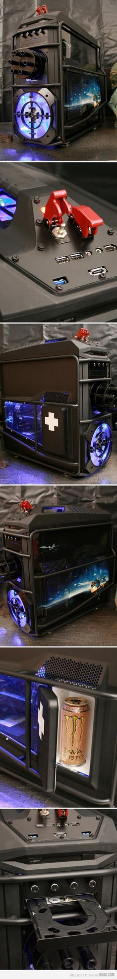 Battlefield PC - Interesting Case Mod... I like the mini-fridge :)