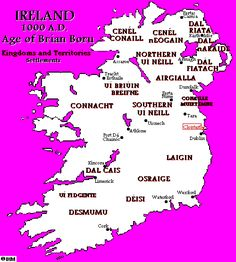 A map and commentary on Irish History circa Map Of Britain, Great Britain, Ireland Map, Irish Roots, Historical Maps, Cartography, Family History, Anthropology, Archaeology