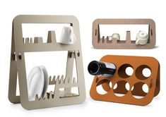 Designed by Spanish Amor de Madre. Aurea is a collection of 3 frames, that can be a drainer or a container for mugs, dishes and bottles. It has a unique and simple design that will definitely give your kitchen an artistic look.