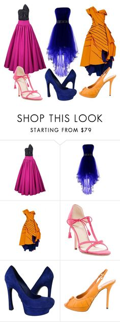 """""""Untitled #93"""" by septum-scorpio ❤ liked on Polyvore featuring Christian Siriano, Frances Valentine, Yves Saint Laurent and Christian Dior"""