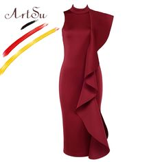 ArtSu <font><b>Celebridades</b></font> Party Club Elegant Dress Women White Sleeveless Ruffles Dresses Sexy Bodycon Slim Vestidos de Festa ASDR20506