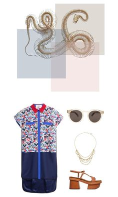 """""""Hensley"""" by oneweirdtrick ❤ liked on Polyvore featuring STELLA McCARTNEY, Prabal Gurung, Chan Luu, Illesteva and summersandals"""