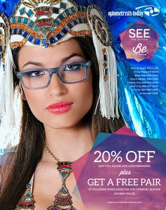 Full-page press ad design for Optometrists Today's Carnival promotion.