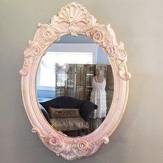 Pretty pink nursery mirror