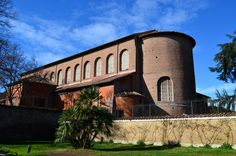 EARLY CHRISTIAN ARCHITECTURE- S. Sabina, Aventine Hill, Rome, AD 422-32. The Large window of the building shows the basillica's reliable masonry construction.