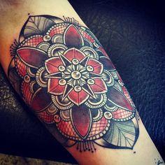 Beautiful colored Mandala tattoo Ela Berger | Indigo Soulmates | Austria