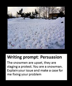 Persuasive writing prompt