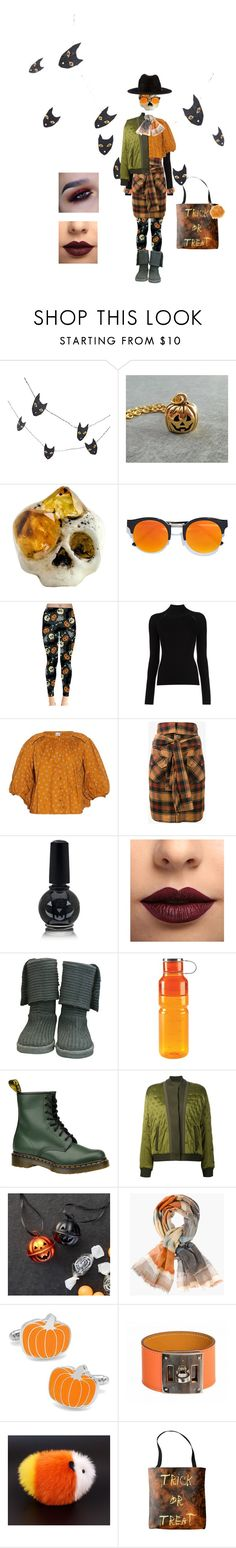 """""""Trick or Treat"""" by lemon-pirating-sea-raptor on Polyvore featuring Crate and Barrel, Macabre Gadgets, LULUS, Misha Nonoo, Thierry Colson, Faith Connexion, LASplash, UGG Australia, OXO and Dr. Martens"""
