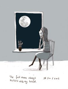The full moon always messes with my head. (by Marloes de Vries)
