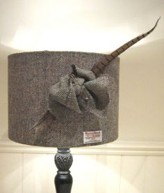 Harris Tweed Lampshade- 35cm Drum Shade- Herringbone | eBay