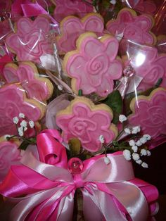 Whimsical flower cookie bouquet