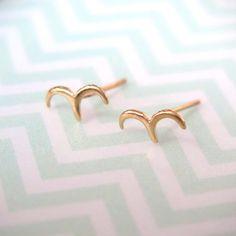 Birds Earrings  14K Gold Earrings  Gold Birds Studs  Gift