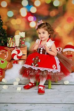 Gingerbread Tutu Dress Christmas tutu dress by GlitterMeBaby