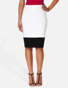 High-Waist Colorblock Skirt $59.90