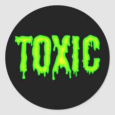 Toxic - black sticker with vivid yellow-green drippy lettering. Size: inch (sheet of Gender: unisex. Cd Wall Art, Cd Art, Wall Collage, Cute Canvas Paintings, Small Canvas Art, Diy Canvas Art, Hippie Painting, Trippy Painting, Vinyl Record Art