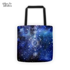 Sacred Geometry Tote Bag - A Place For Intention