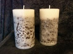 Coffee Bean Candles from Wickwood Creations. It contains real coffee beans that are embedded in the outer layer of the wax, giving the candle a truly authentic coffee fragrance. #scottsmarketplace