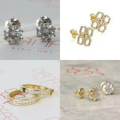 #jewelry #earrings #studearrings #14kwhitegold #bridalearrings #weddingearrings #fineearrings #genuinediamonds #engagementearrings #solitaireearrings #bridesmaidearrings #pushbackearrings #flowerearrings #golddiamondearring #certifieddiamond
