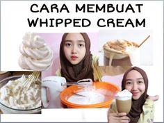 CARA BIKIN WHIPPED CREAM DIRUMAH - YouTube Wipped Cream, Cake Cookies, Cake Recipes, Food And Drink, Breakfast, Youtube, Morning Coffee, Easy Cake Recipes, Youtubers