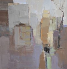 """Barbara Flowers, """"City Shapes II"""" - 24x24, oil on canvas--at Principle Gallery"""