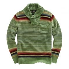 RRL Faded Shawl Collar Pullover