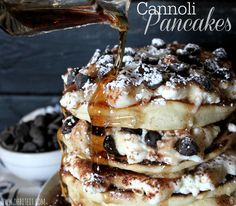 ~Cannoli Pancakes! OH.MY.GOODNESS.YUM