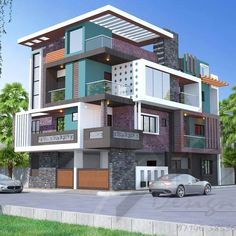 Simple modern home design, floor plans, elevations, interiors designs and other house related products Modern Bungalow Exterior, Bungalow House Design, House Front Design, Modern House Design, Home Design Floor Plans, Dream Home Design, Home Outer Design, House Paint Exterior, Exterior Design