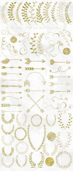 Grab this ultra pack of gold foil elements for 97% off in our September Bundle!